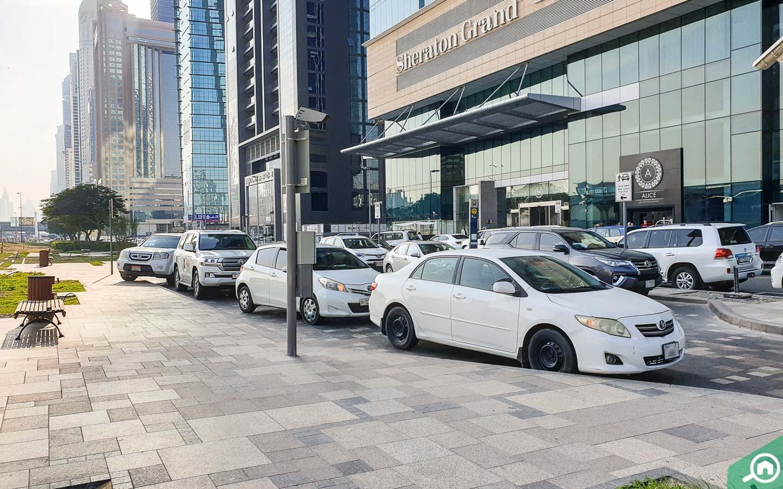 Parking in Burj Al Salam Towers