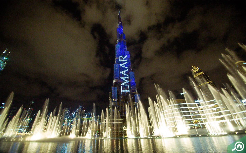 Dubai Fountain, near Burj Khalifa