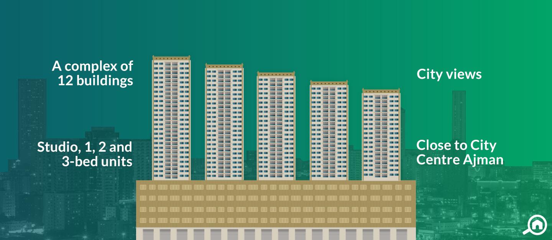 Ajman Pearl Towers, Ajman Downtown