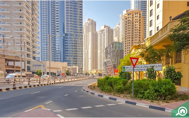 View of King Suleman Bin Abdul Aziz street