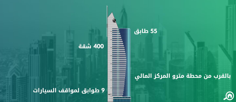 برج القرن 21، شارع الشيخ زايد