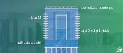 برج ماجيستك، الخليج التجاري