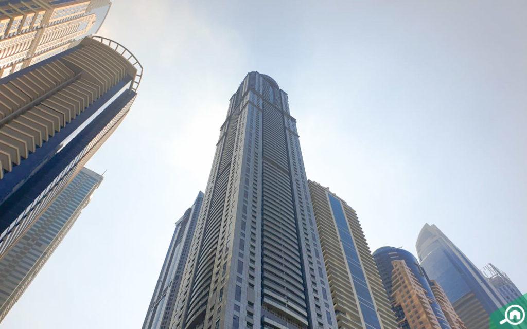 أطول برج سكني في دبي مارينا