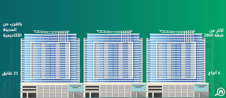 أبراج سكاي كورتس، دبي لاند