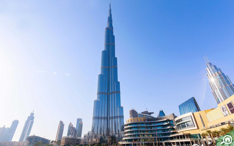 Burj Khalifa, the world's tallest tower located near Al Attar Tower