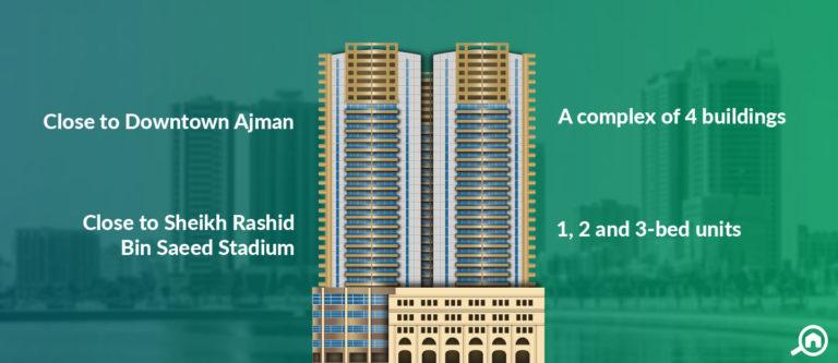 Horizon Towers, Ajman Downtown
