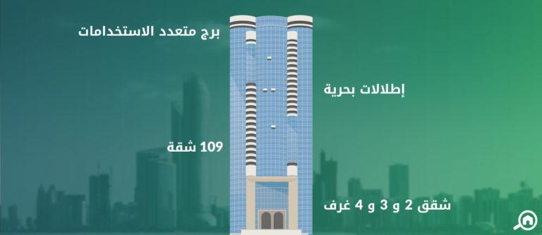البرج الفضي ابوظبي، شارع الكورنيش
