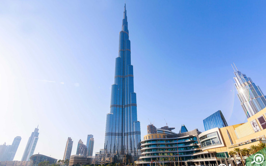 Burj Khalifa is located at a 6-minute distance from The Residence 1.