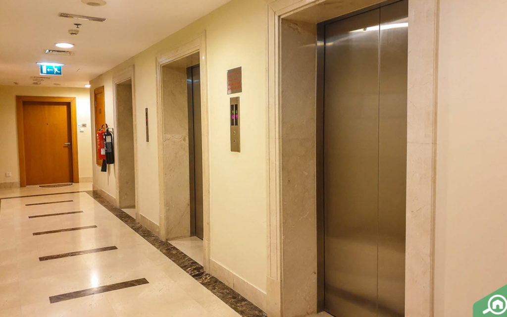 elevators in The Links East Tower, The Views