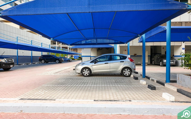 Covered parking space in Al Noor Tower