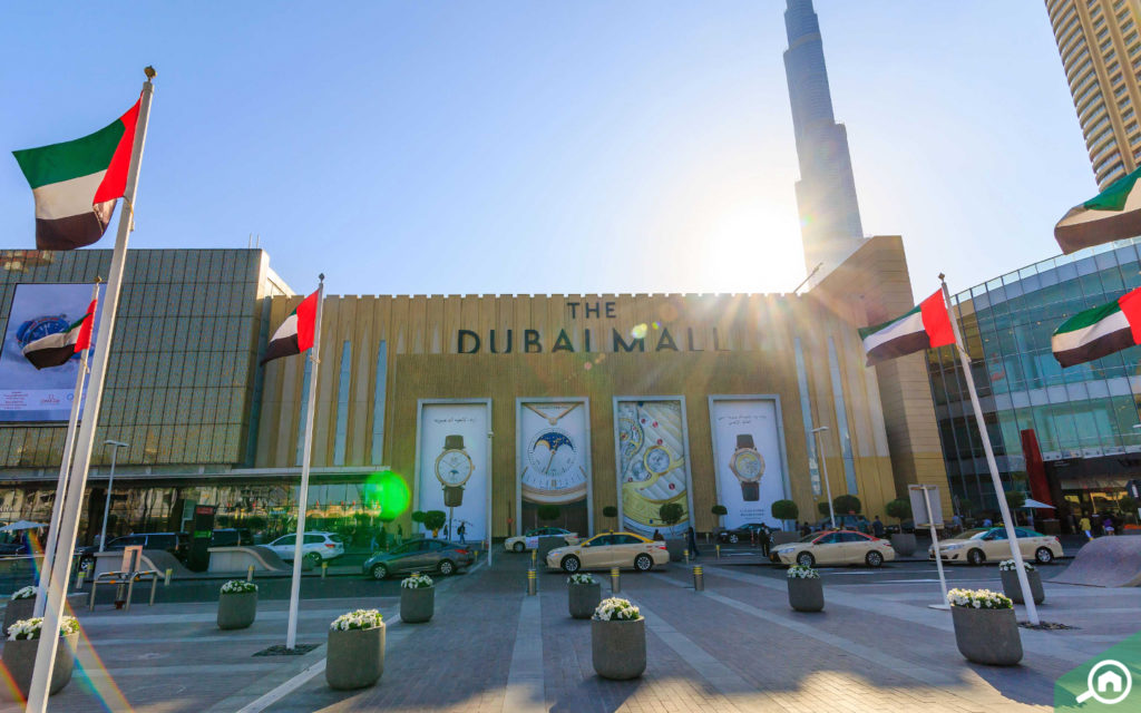 The Dubai Mall is a 7-minute drive from The Residence 1