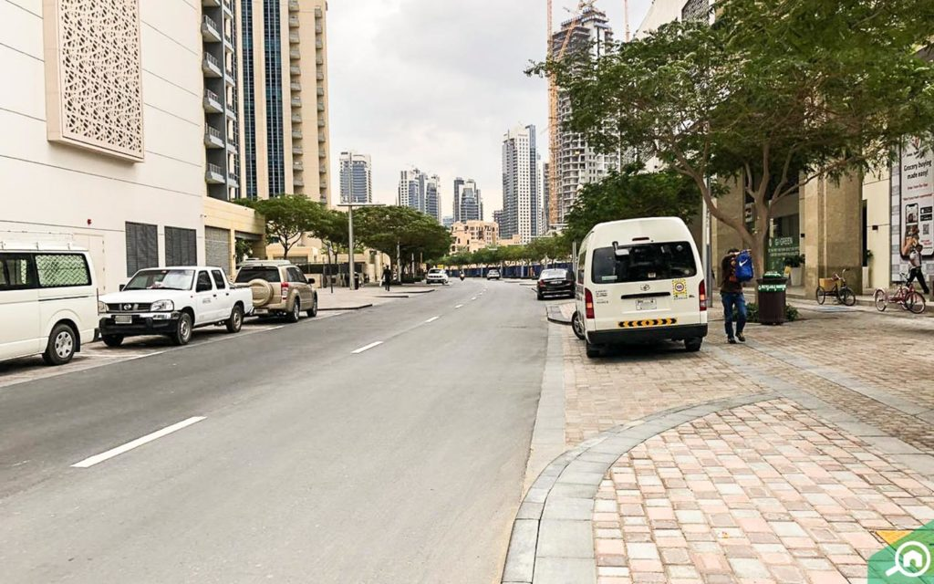 street parking outside bahwan tower
