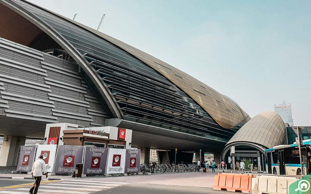 metro station near bahwan tower, downtown dubai