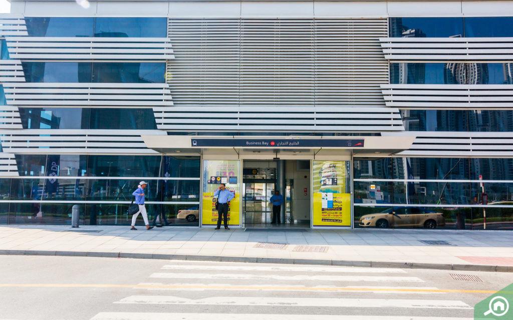 محطة مترو الخليج التجاري دبي