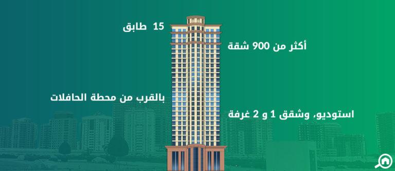 برج ذا كريسنت C، مدينة دبي للإنتاج