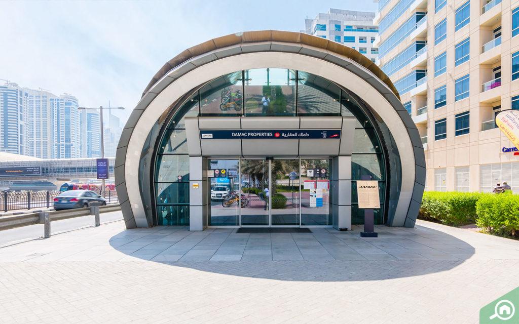 outside view metro station DAMAC