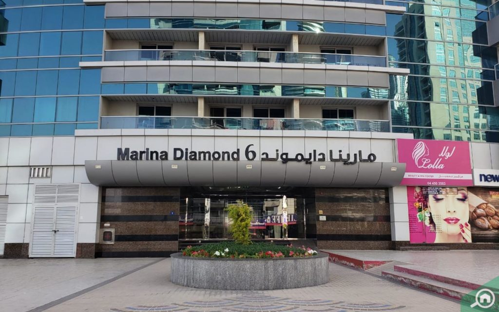 Entrance of Marina Diamond 6