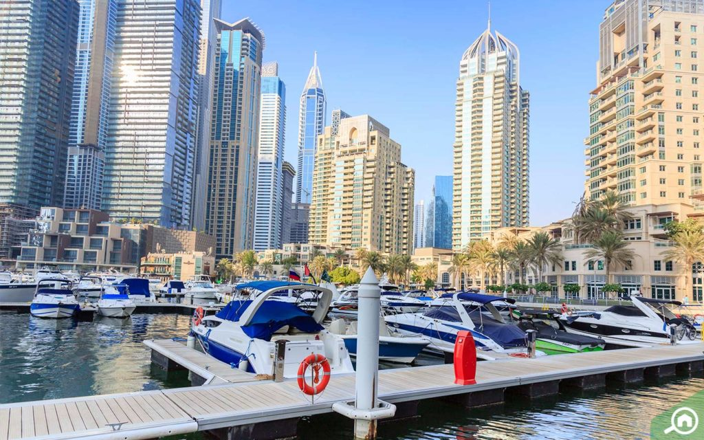 Dubai Marina Walk near Marina Diamond 6