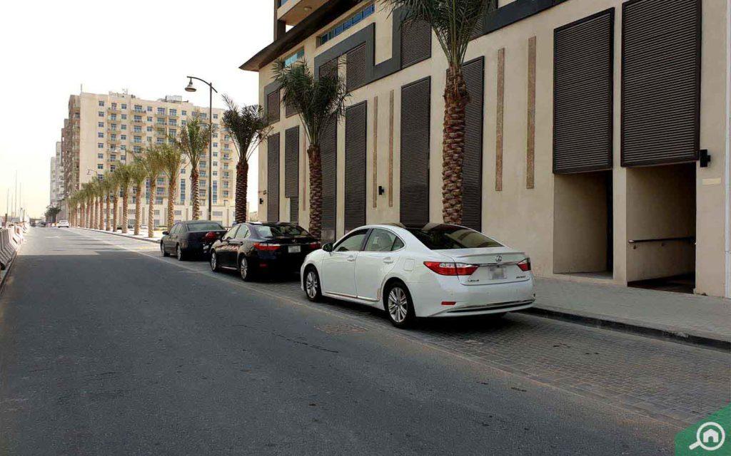 Street parking near Victoria Residency