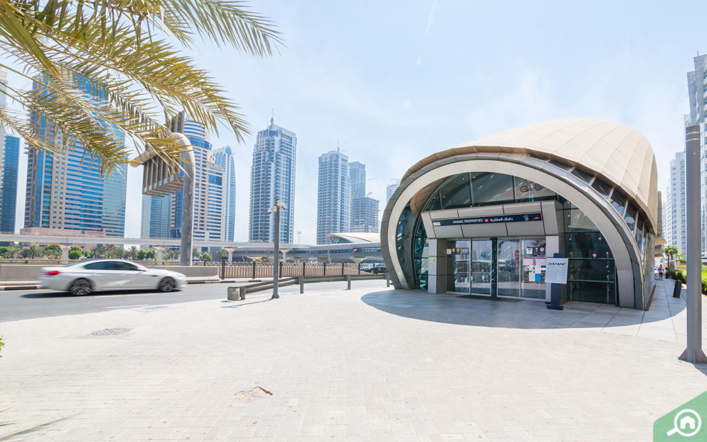 DAMAC Properties metro station near Marina Diamond 5