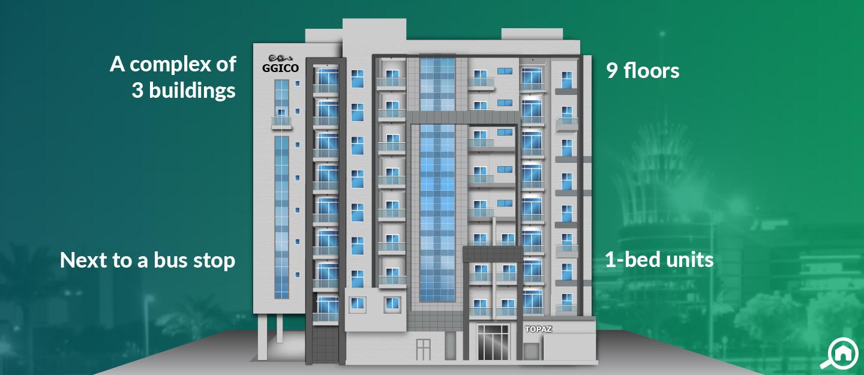 Topaz Residences, Dubai Silicon Oasis