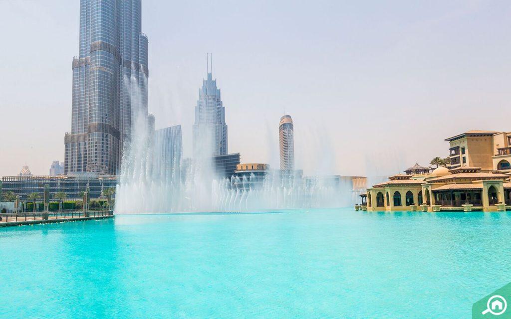 Dubai Fountain in Daylight