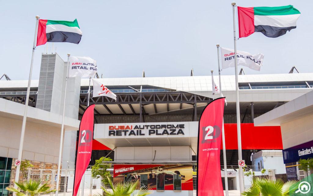 Dubai Autodrome near Emirates Garden