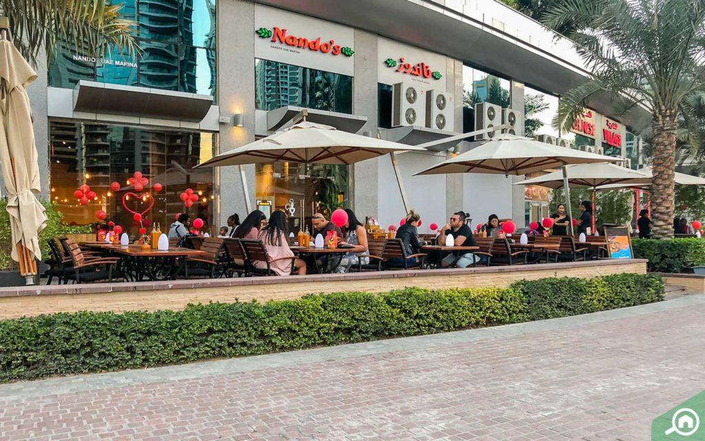 nandos at Marina Walk