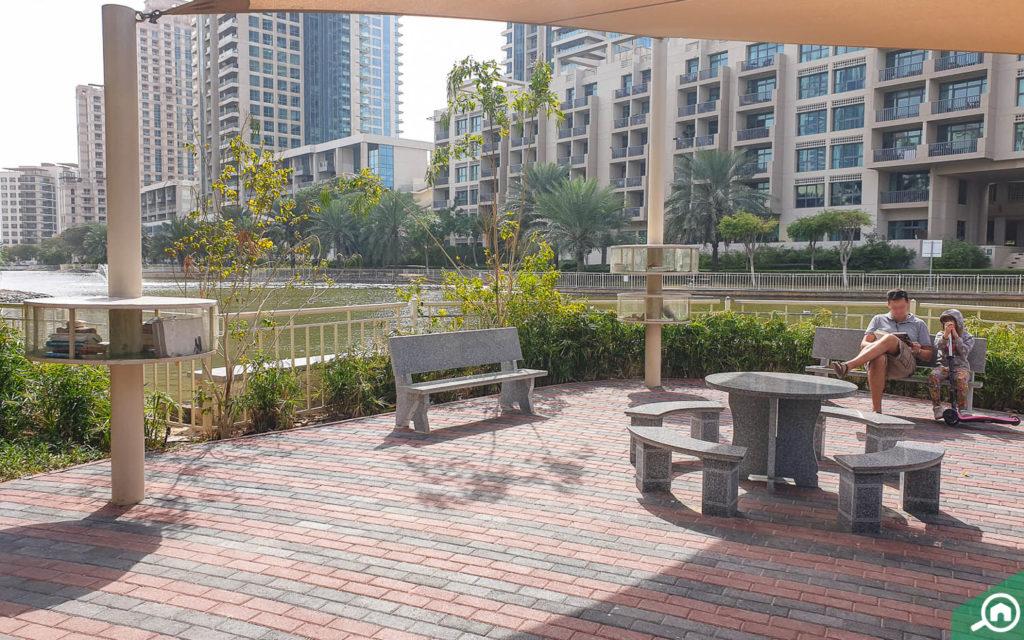 حديقة في ذا فيوز دبي