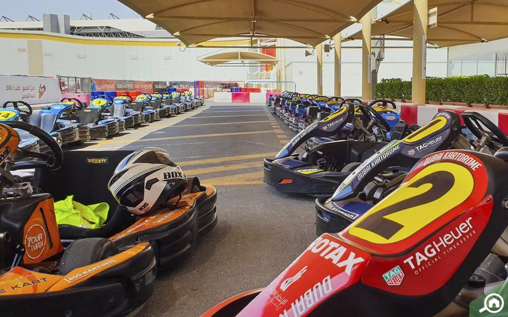 Go-Karts in Dubai Autodrome