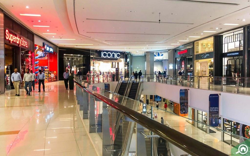Shops inside Dubai Marina Mall