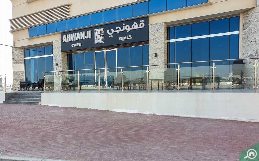 Ahwanji cafe located on the ground floor of The Gate Residence 1