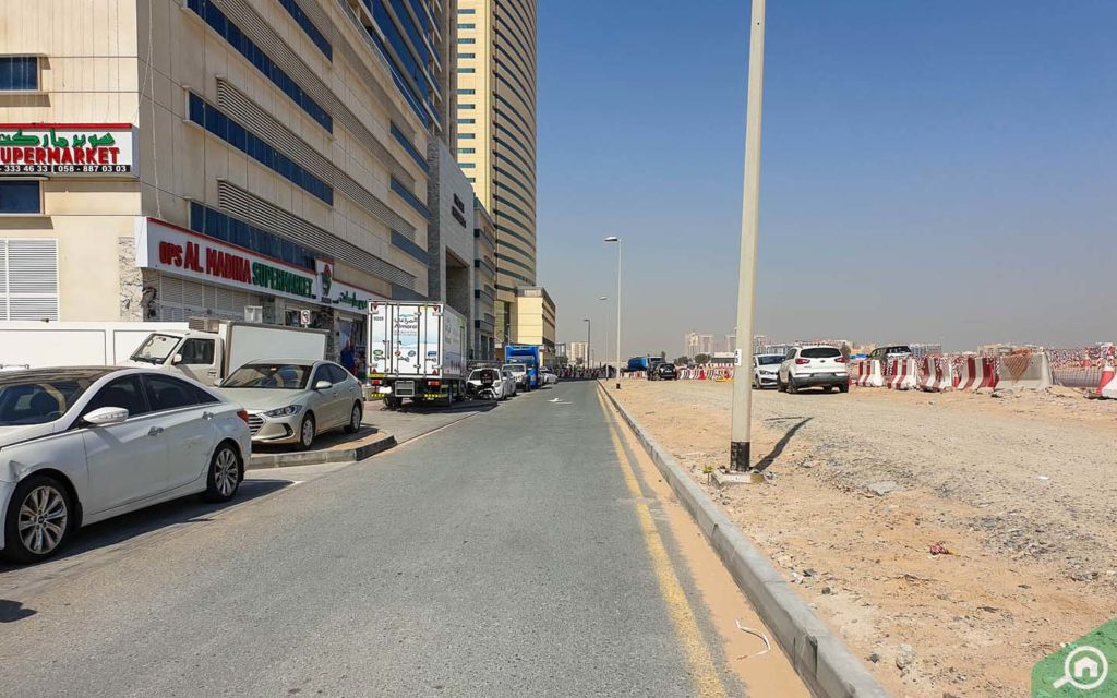 Street parking located outside The Gate Residence 1