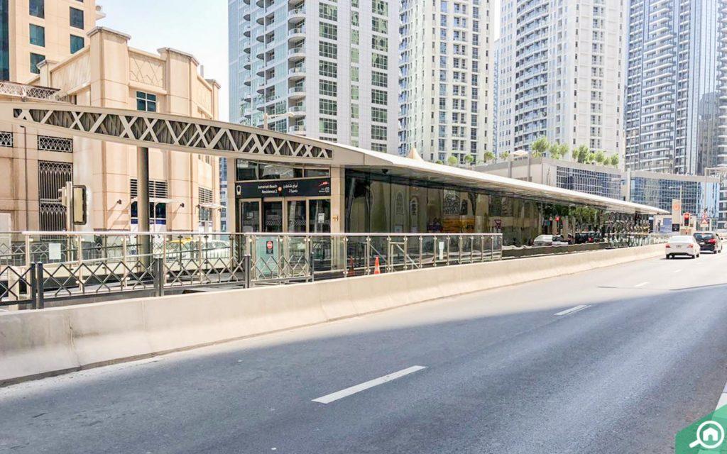 محطة ترام أبراج شاطئ جميرا في دبي