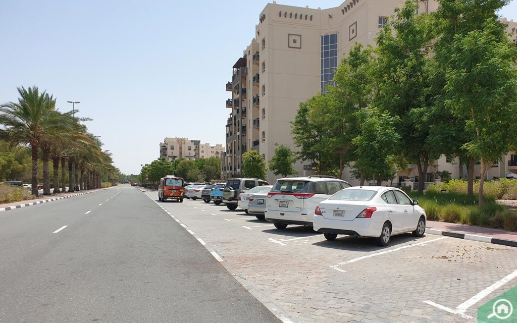 Parking located outside Al Thamam 24