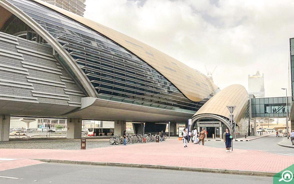 Metro Station near Al Manara Tower