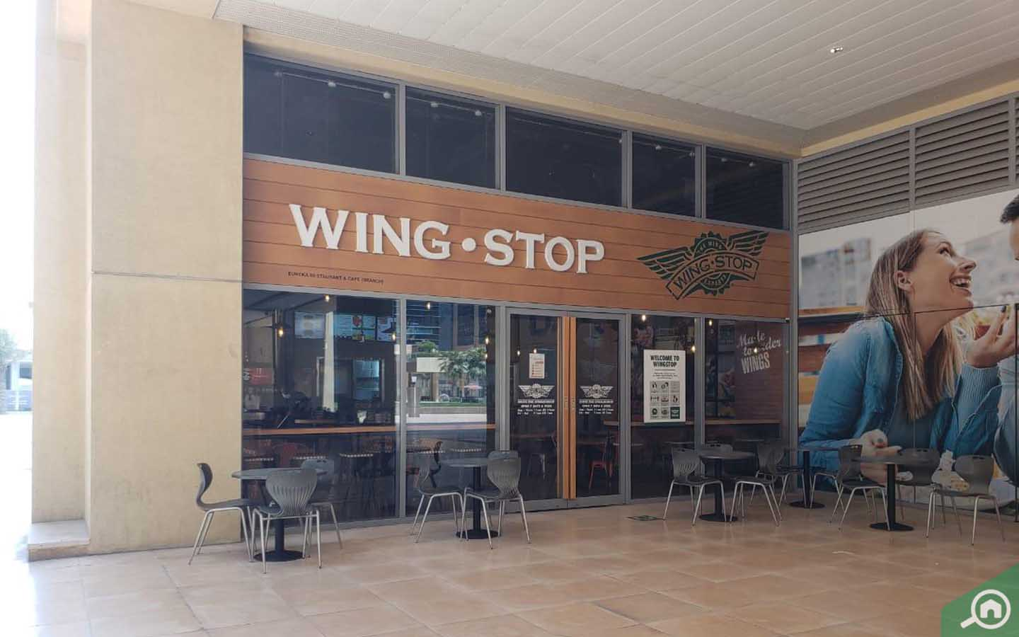 Wing Stop restaurant in Business Bay