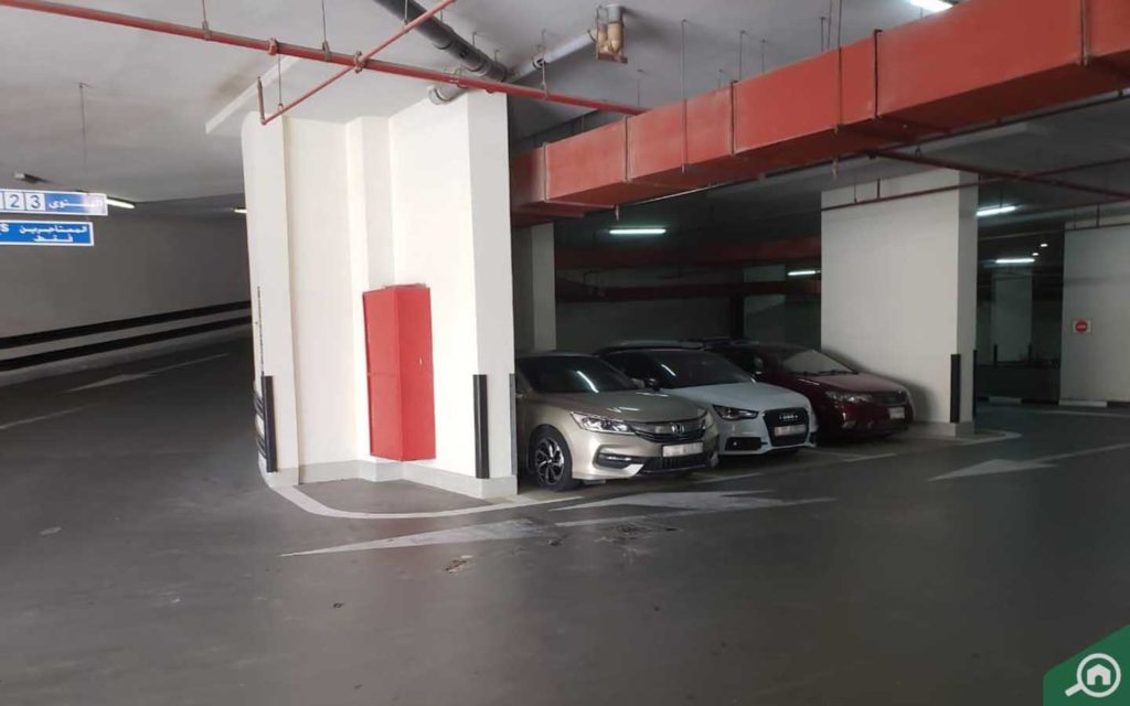 Basement parking in Crystal Tower