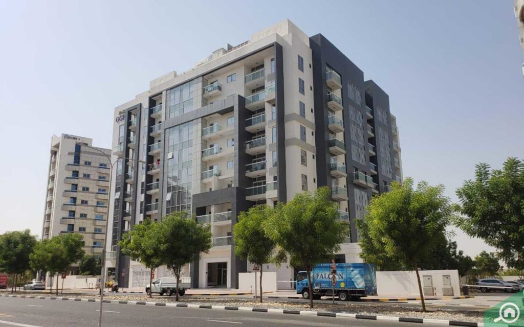 View of Topaz Residence located in Dubai Silicon Oasis