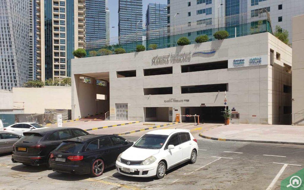 Parking outside Marina Terrace