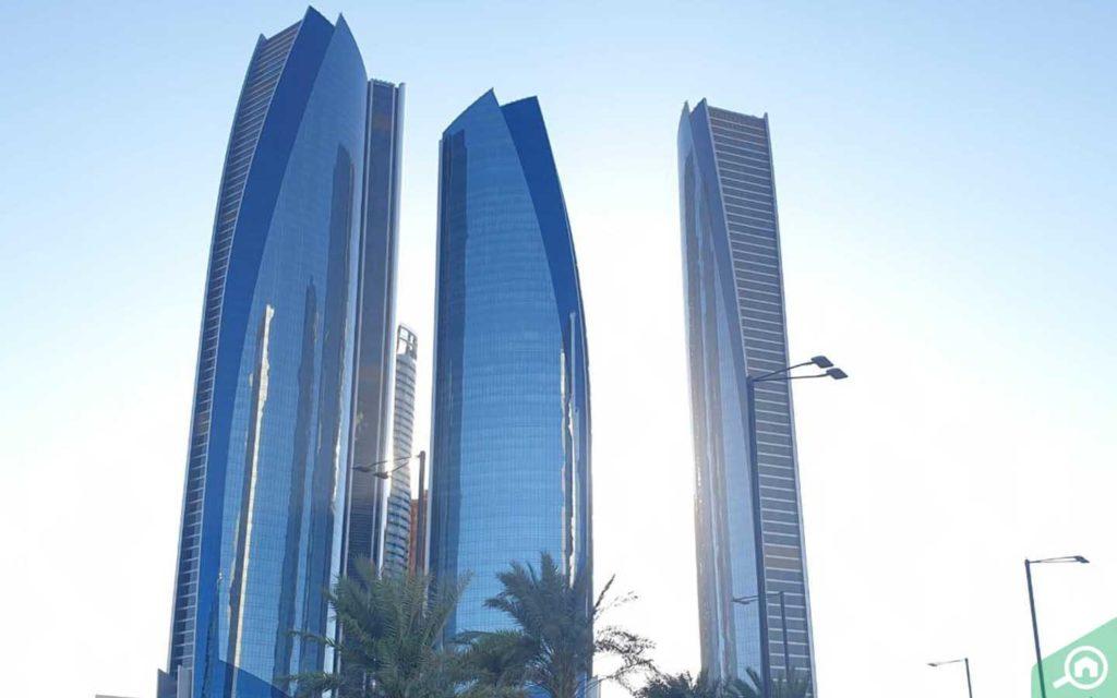 etihad towers complex in abu dhabi