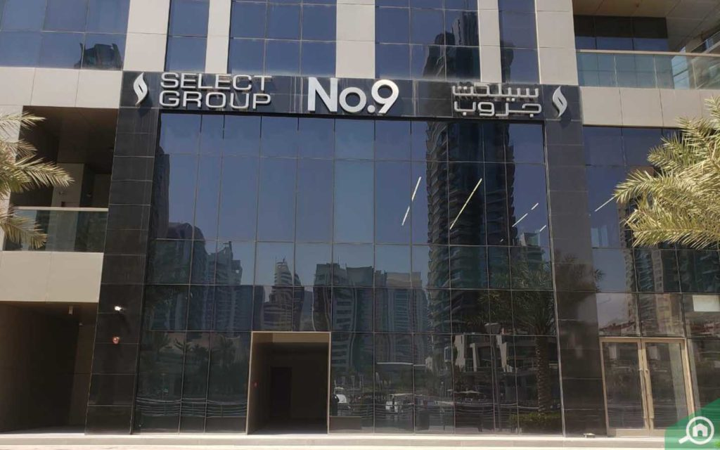 Entrance to No. 9 tower