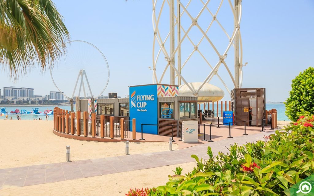The Flying Cup at JBR Beach