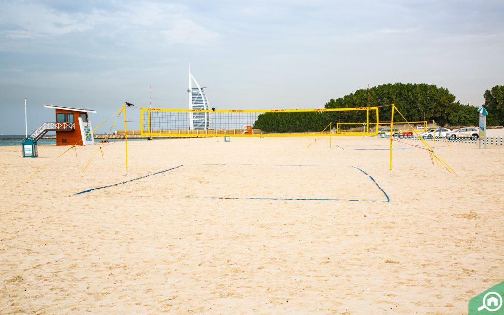 volley ball net at Al Sufouh Beach