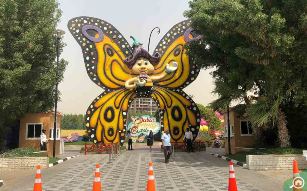 Dubai Butterfly Garden is a walking distance from the building
