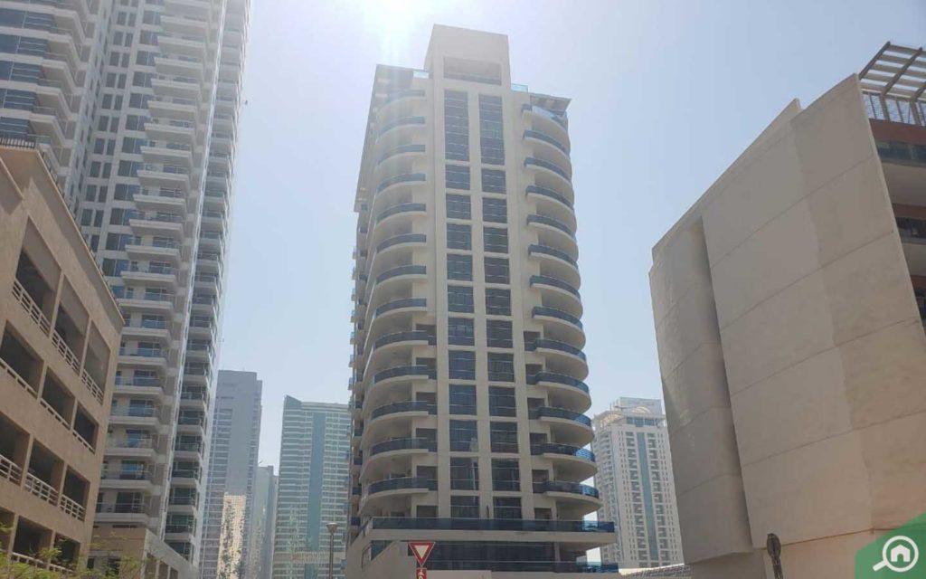 برج ذا كاسكيدز في دبي
