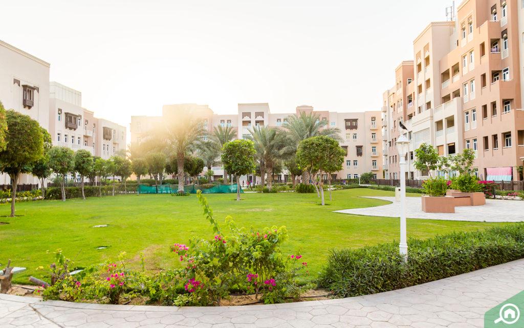 حديقة في مشروع مساكن الفرجان