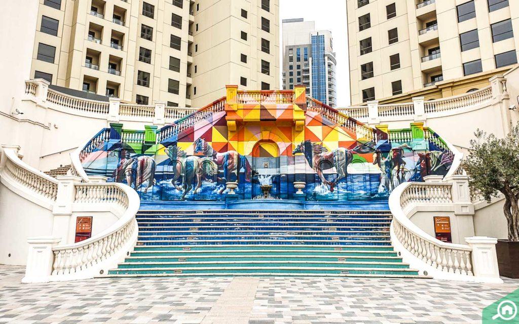Dubai Marina Walk located near Bayside Residence