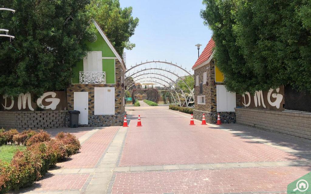 Dubai Miracle Garden located near the location