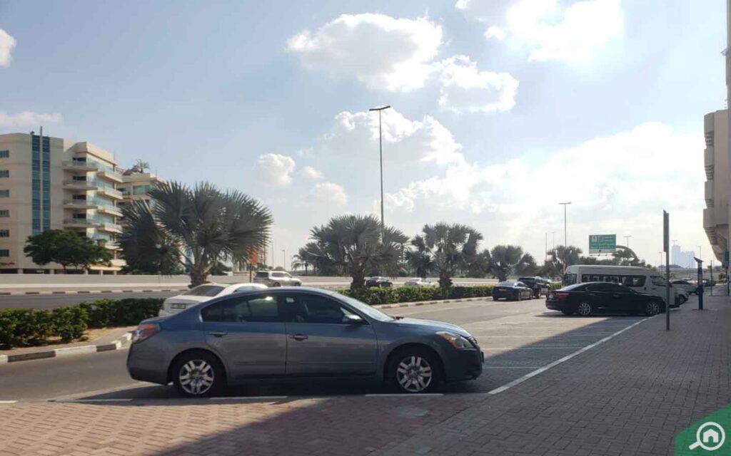 Al Manzel outside parking